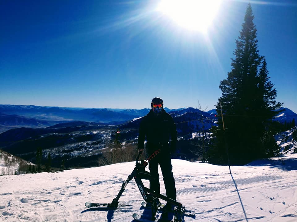 Mack Fullmer on SNO-GO Powder Skis
