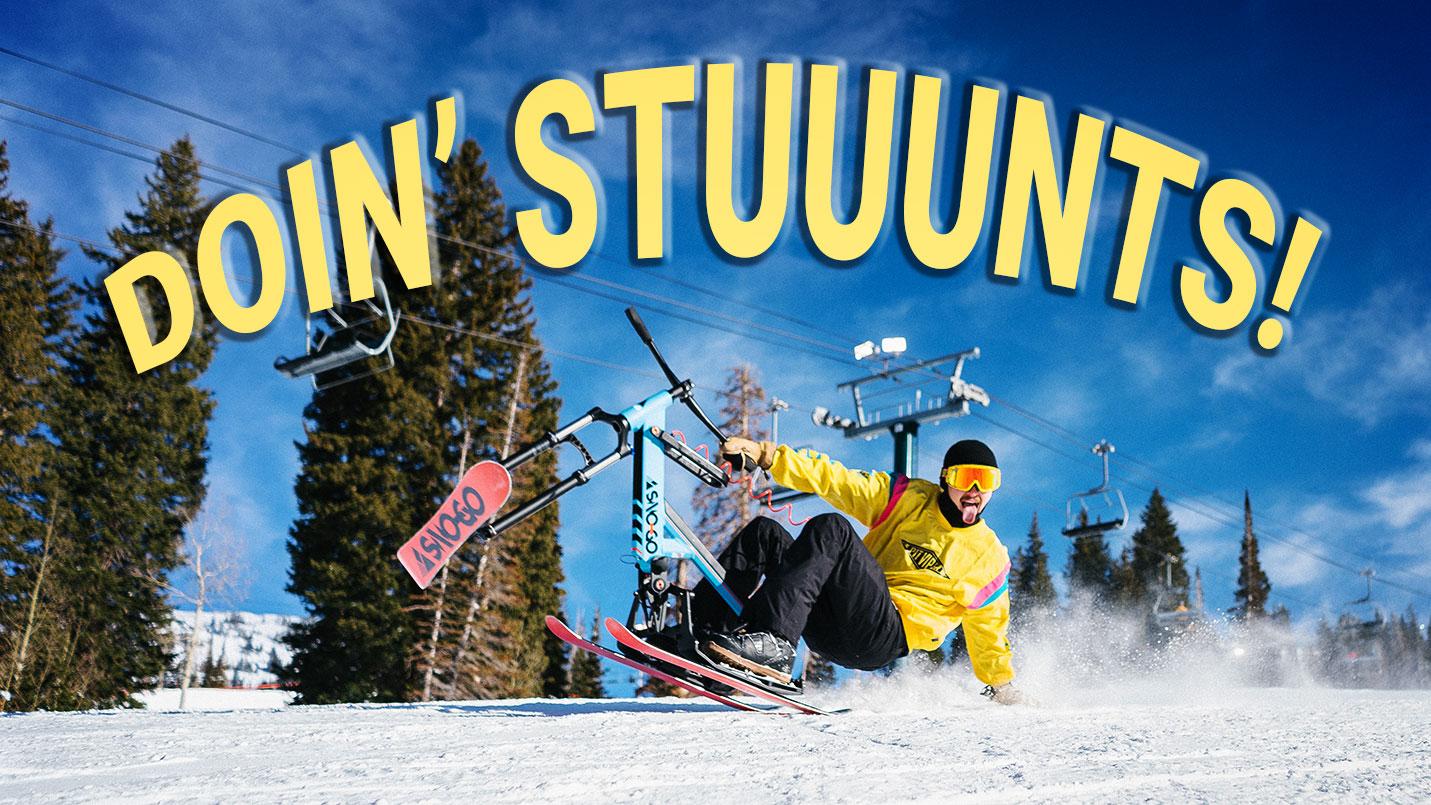 SNO-GO Ski Bike Doing Stunts