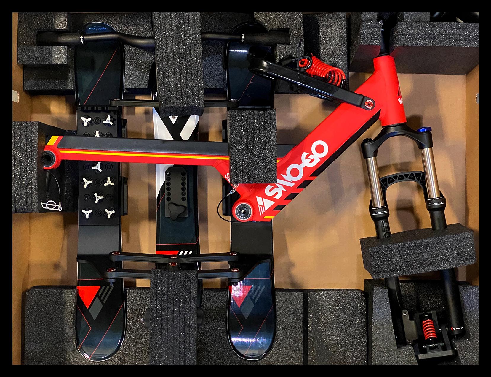 New 2021 SNO-GO Ski Bike Packaging